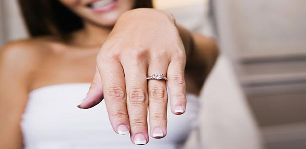 wifey showing off engagement ring