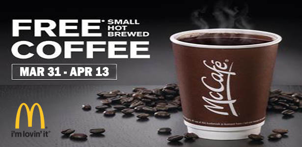 free mccafe coffee week