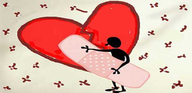 healing cartoon bandaid on heart