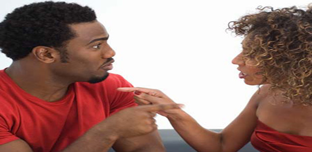 black couple arguing