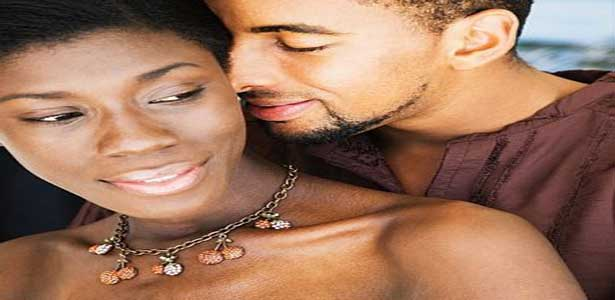 black loving couple tell your woman