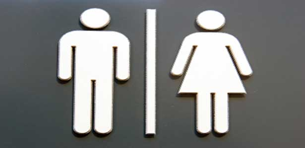 double standard men and women bathroom symbols