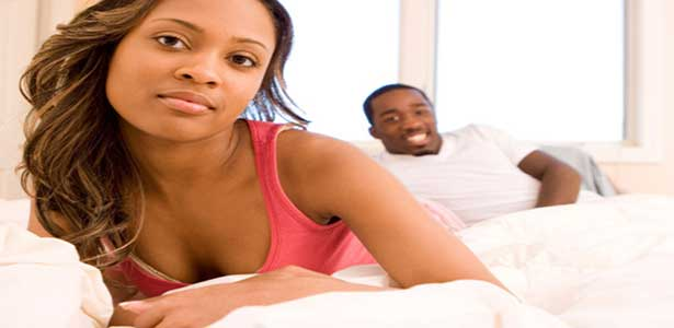 woman ignore what man says in bed