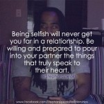 being selfish in a relationship quote