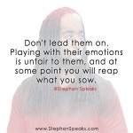 dont lead them on quote
