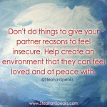 help your partner feel secure love quote