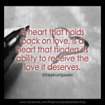 hold back love quote