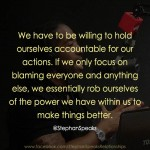 life quote about personal accountability
