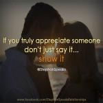 love quote on appreciation