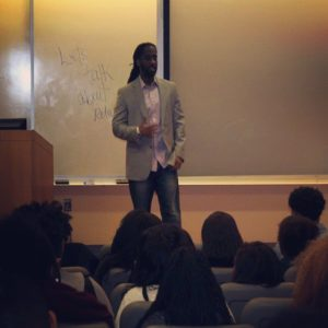 college speaker stephan labossiere at spelman college